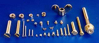 Threaded Fasteners Brass Stainless