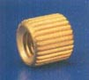 Brass Straight Knurled Moulding Insert
