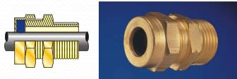 T.R.S. Brass Cable Glands